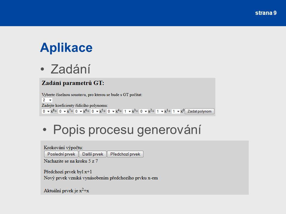 Aplikace Prvky strana 10 Matematické operace