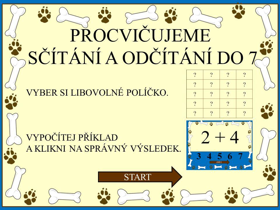 1 + 6 34567 ZPĚT 7