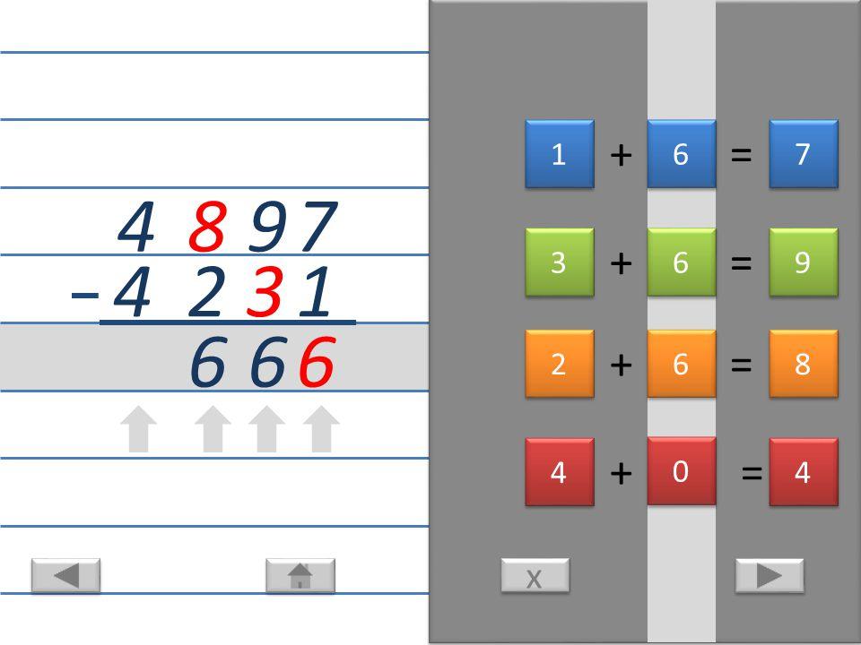 4 8 x x 6 6 6 8 8 14 + = 9 3 3 9+1 3 3 13 + = 3 8 2 8 8 3+1 12 + = 8 1 6 6+1 8 8 1 1