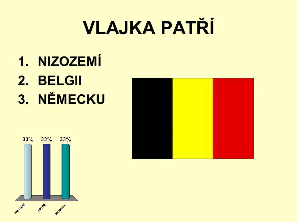 VLAJKA PATŘÍ 1.NIZOZEMÍ 2.BELGII 3.NĚMECKU
