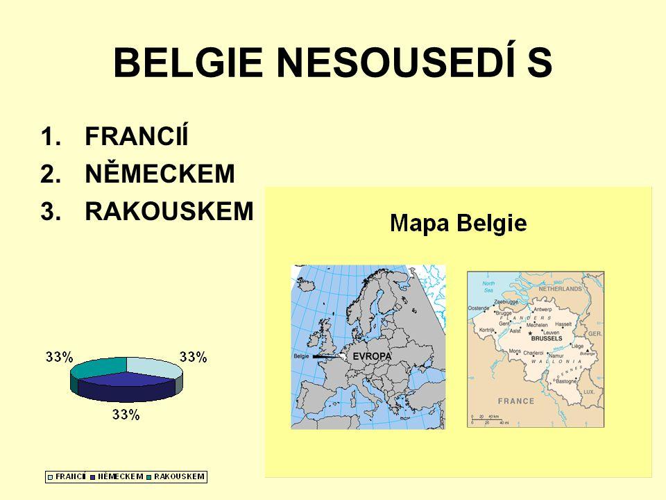 BELGIE NESOUSEDÍ S 1.FRANCIÍ 2.NĚMECKEM 3.RAKOUSKEM