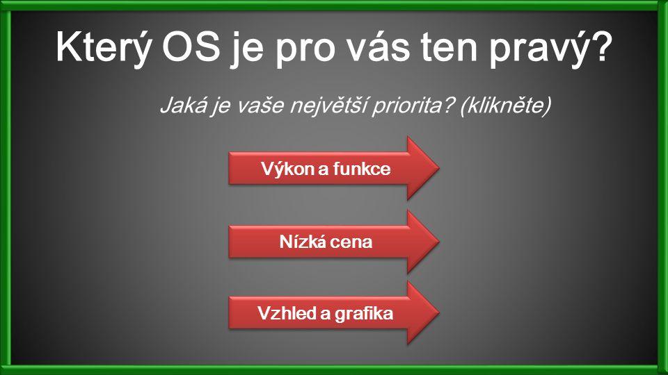 Který OS je pro vás ten pravý. Jaká je vaše největší priorita.