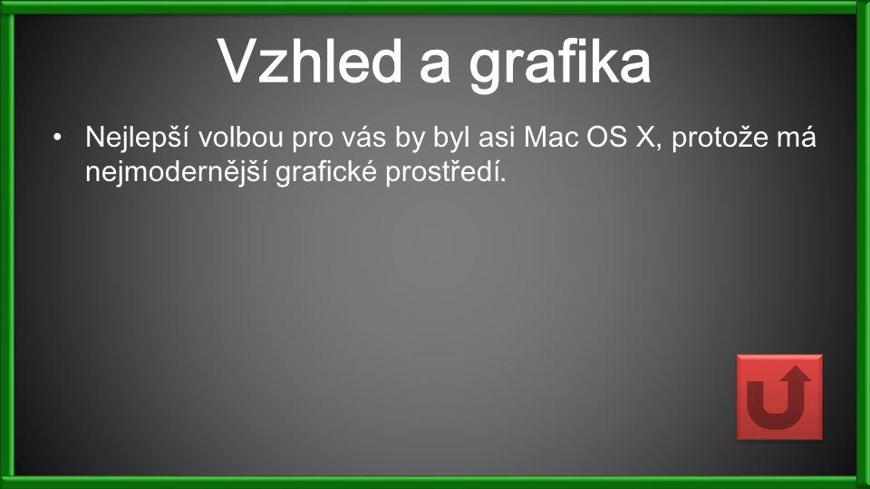 Vzhled a grafika Nejlepší volbou pro vás by byl asi Mac OS X, protože má nejmodernější grafické prostředí.