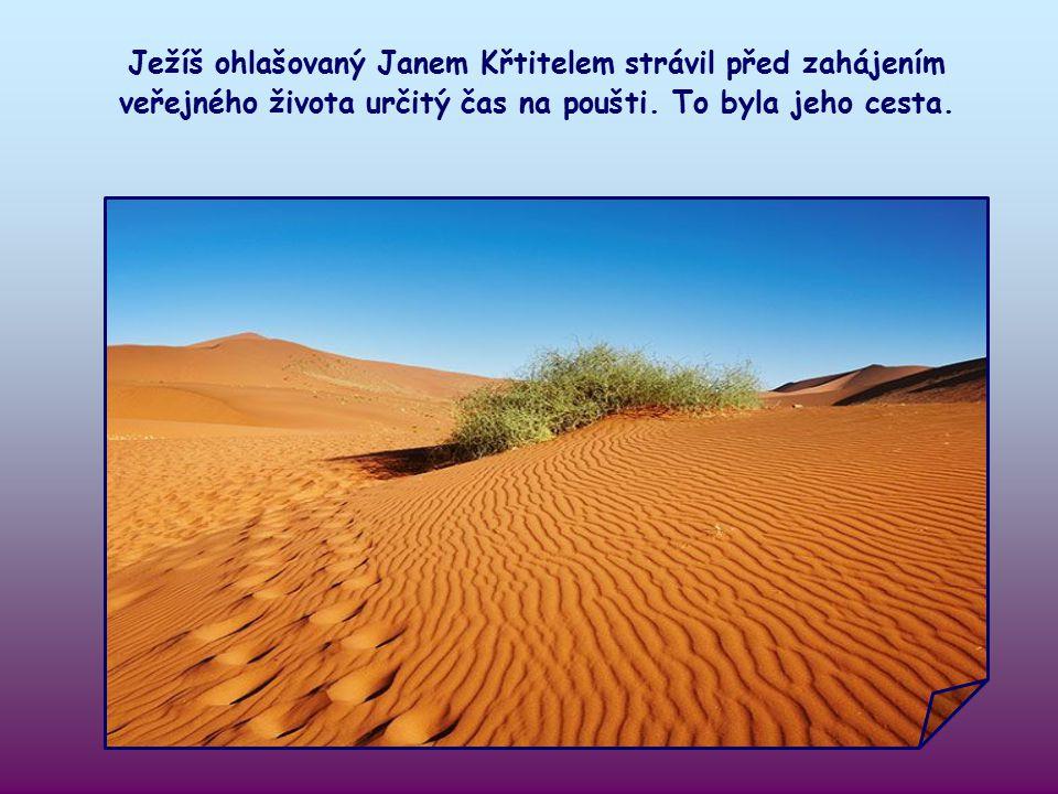 Jan Křtitel nás vyzývá, abychom připravili cestu Páně. Ale o jakou cestu jde