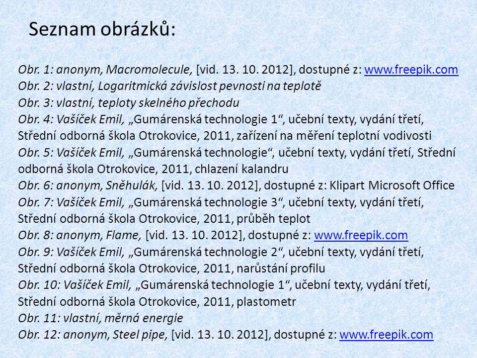 Seznam obrázků: Obr. 1: anonym, Macromolecule, [vid. 13. 10. 2012], dostupné z: www.freepik.comwww.freepik.com Obr. 2: vlastní, Logaritmická závislost