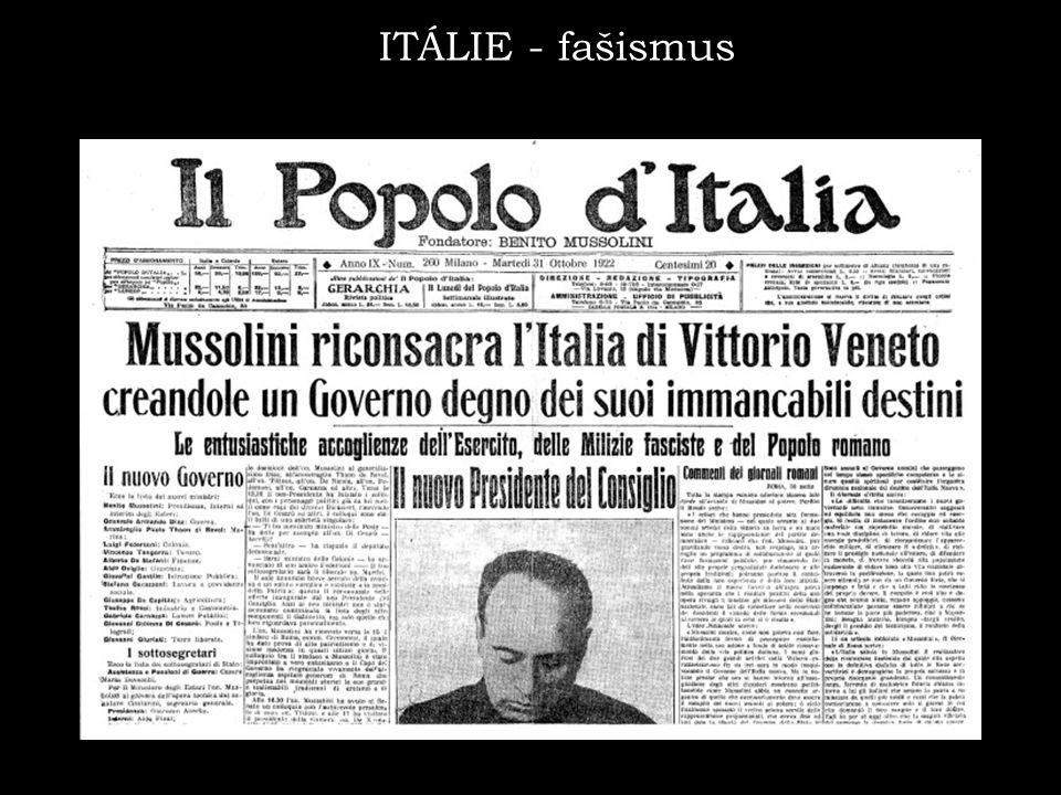ITÁLIE - fašismus