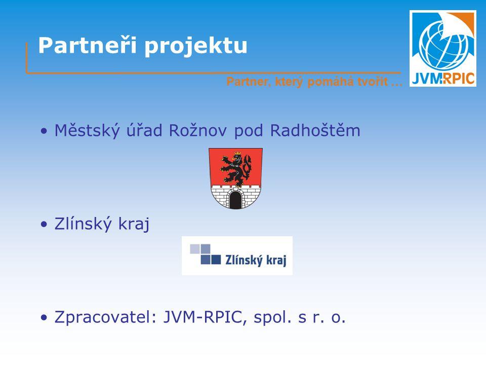 Partneři projektu Městský úřad Rožnov pod Radhoštěm Zlínský kraj Zpracovatel: JVM-RPIC, spol.