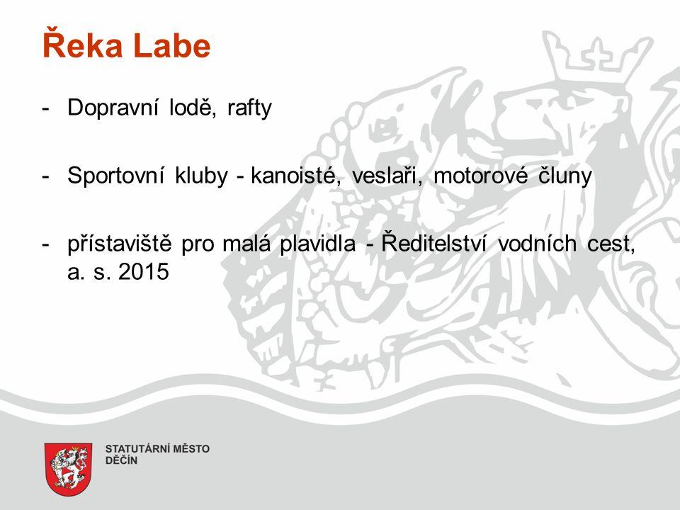 Řeka Labe -Dopravní lodě, rafty -Sportovní kluby - kanoisté, veslaři, motorové čluny -přístaviště pro malá plavidla - Ředitelství vodních cest, a.