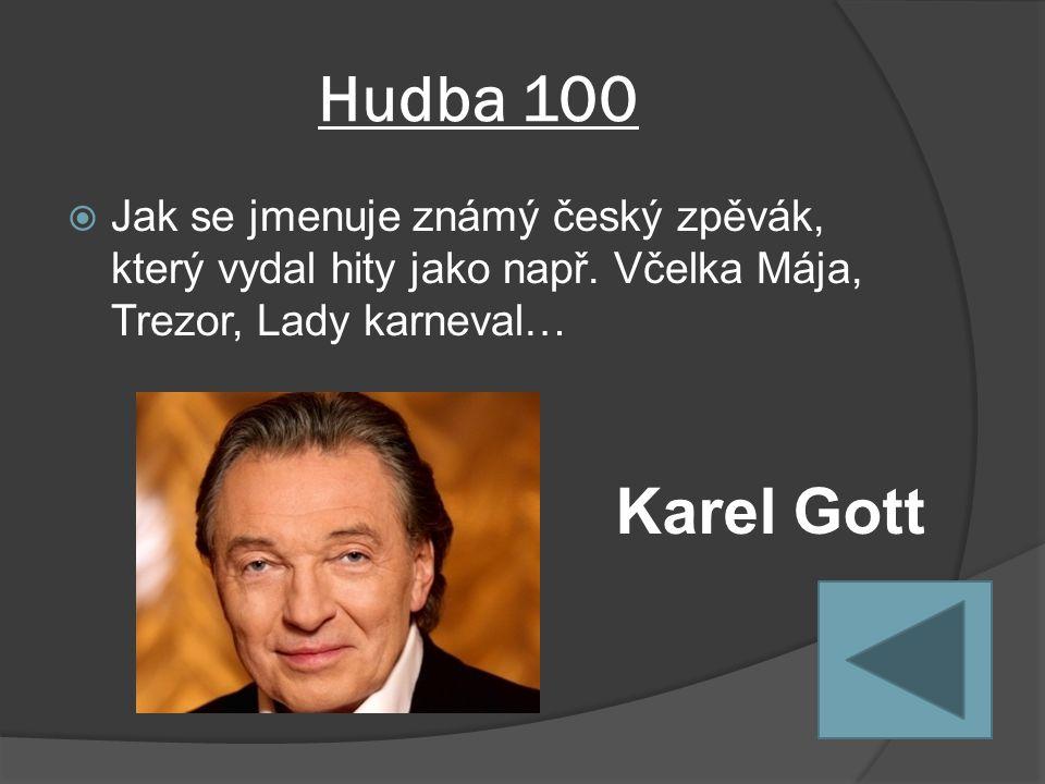 Hudba 100  Jak se jmenuje známý český zpěvák, který vydal hity jako např.