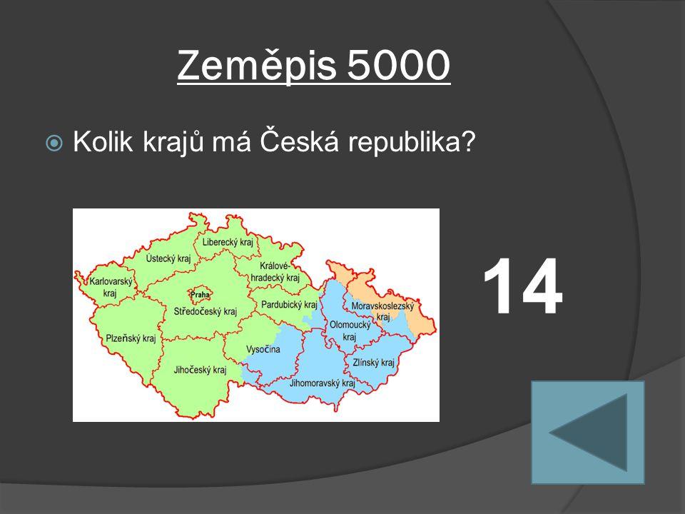 Zeměpis 5000  Kolik krajů má Česká republika 14