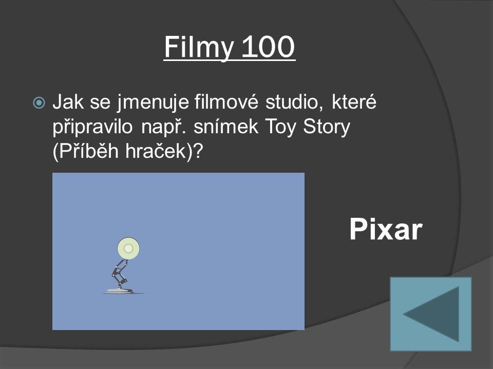 Filmy 100  Jak se jmenuje filmové studio, které připravilo např.