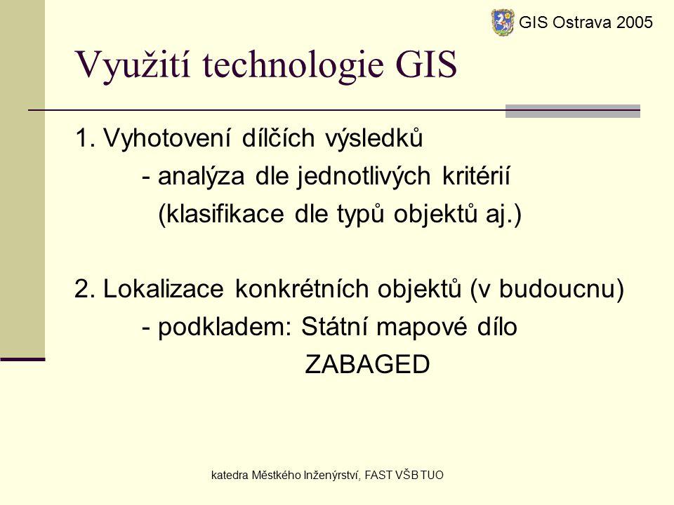Využití technologie GIS 1.