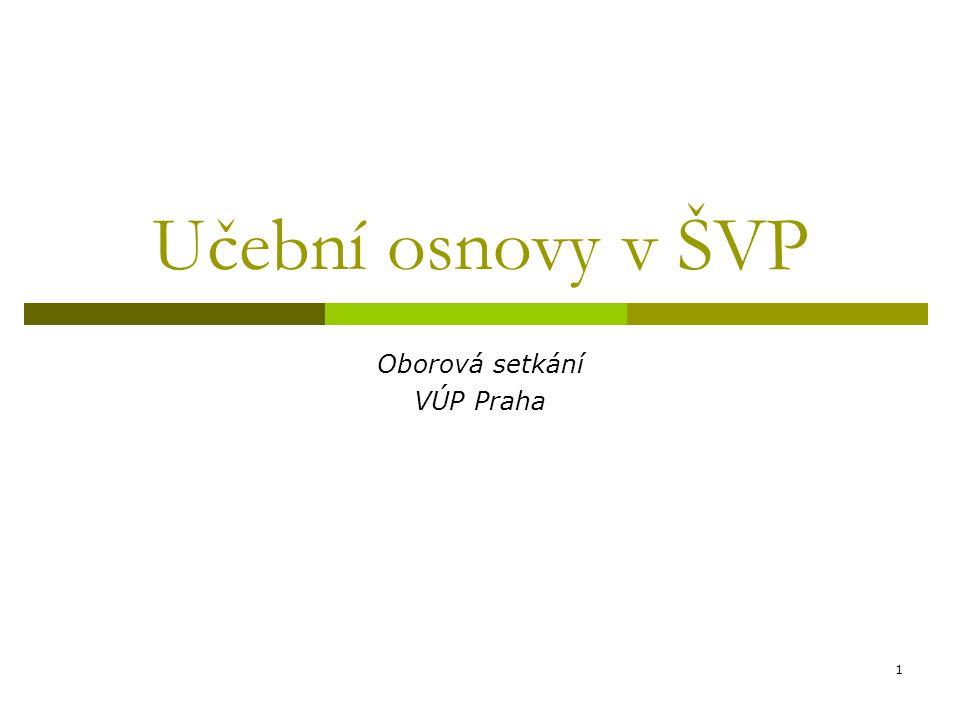 1 Učební osnovy v ŠVP Oborová setkání VÚP Praha