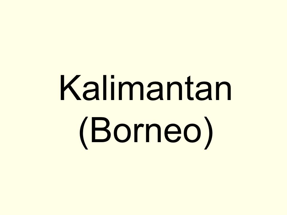 Kalimantan (Borneo)