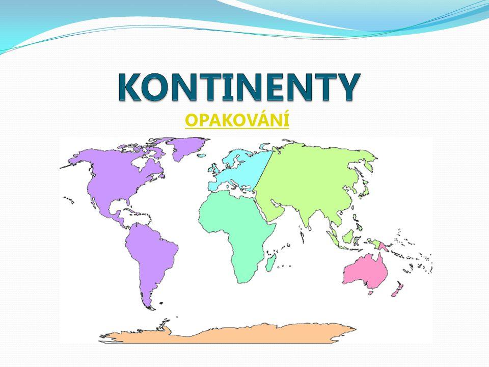 MAPA SVĚTA Doplňte správně kontinenty i oceány. ŘEŠENÍ