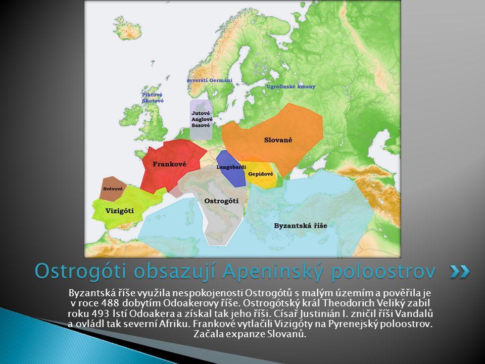 Byzantská říše využila nespokojenosti Ostrogótů s malým územím a pověřila je v roce 488 dobytím Odoakerovy říše. Ostrogótský král Theodorich Veliký za