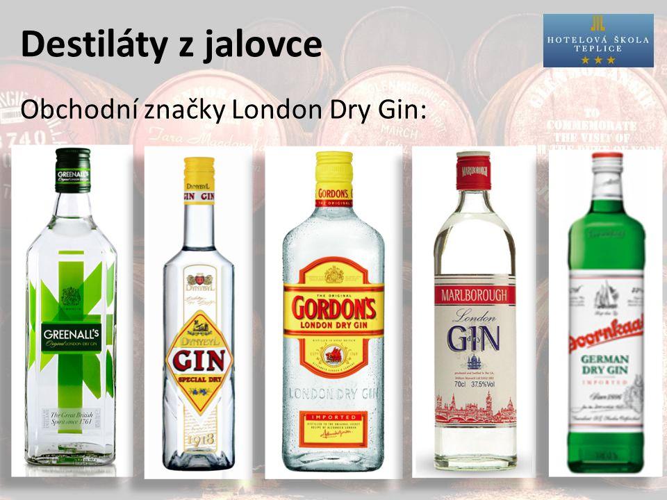 Destiláty z jalovce Obchodní značky London Dry Gin: