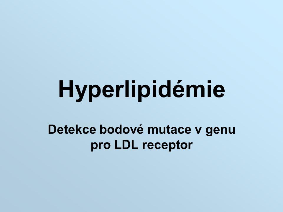 Hyperlipidémie Detekce bodové mutace v genu pro LDL receptor