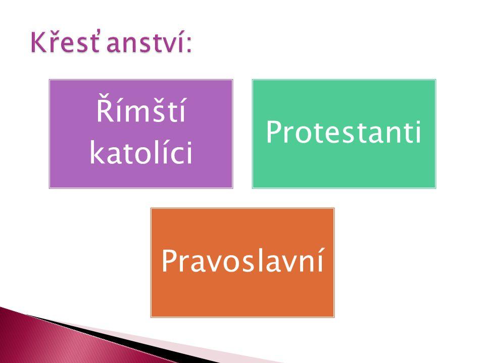 Římští katolíci Protestanti Pravoslavní