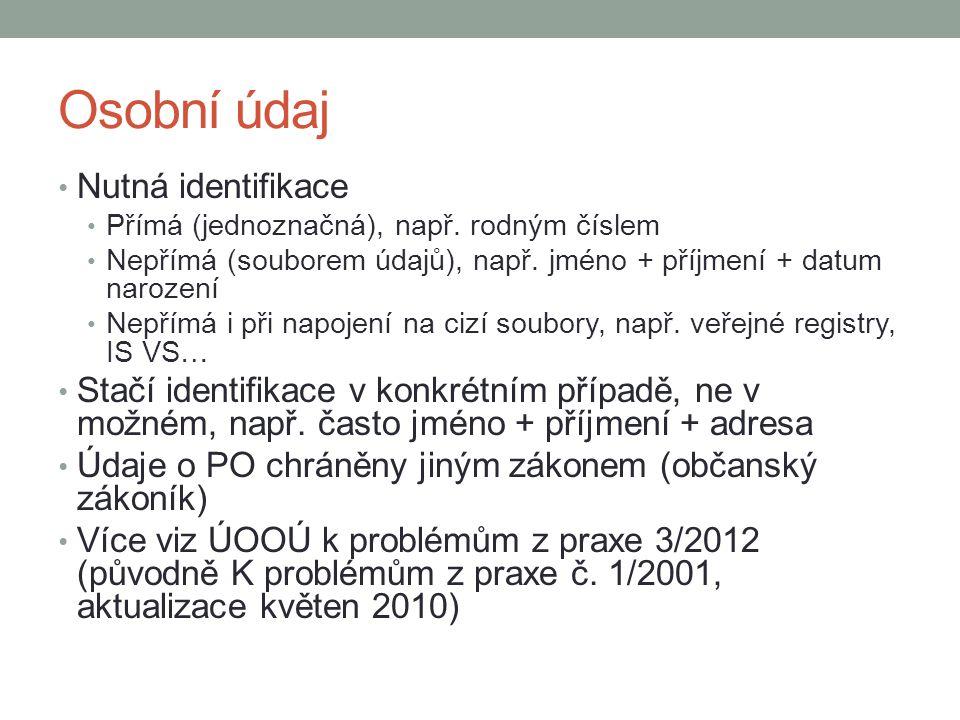 Výklad ÚOOÚ pro knihovny (stanovisko č.2/2002) Má přednost knihovní zákon nebo z.