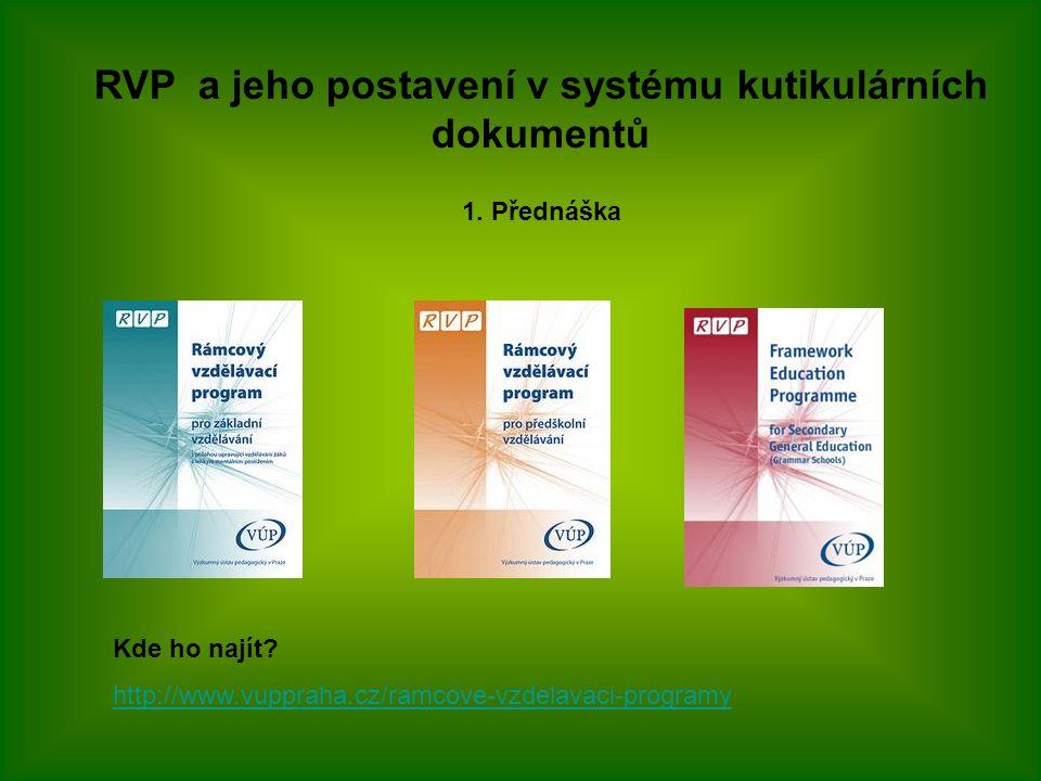 RVP a jeho postavení v systému kutikulárních dokumentů 1.