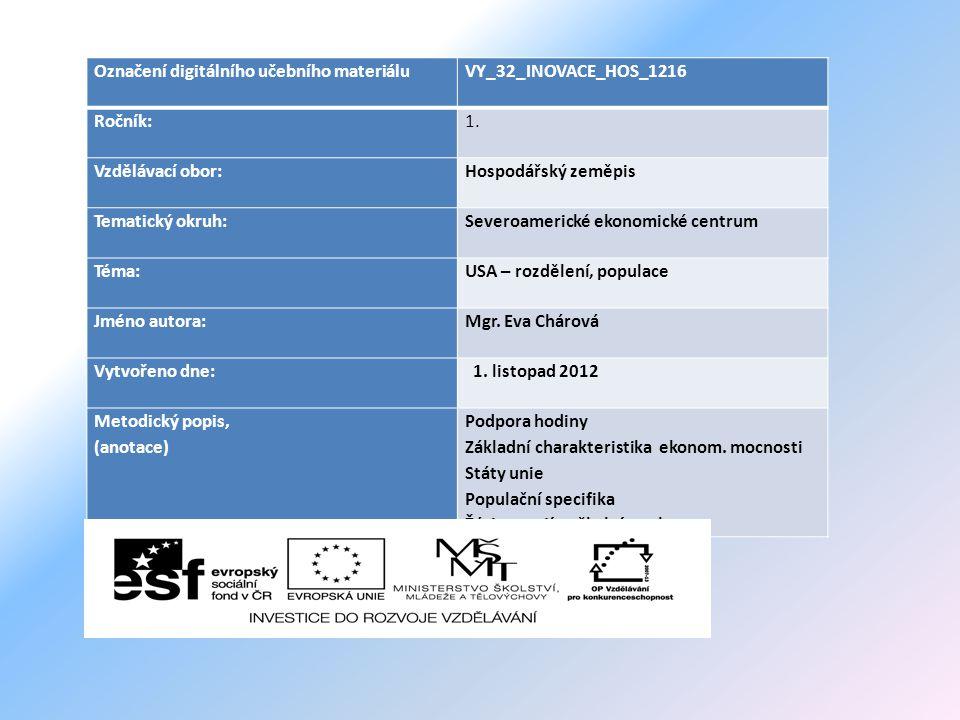 Označení digitálního učebního materiáluVY_32_INOVACE_HOS_1216 Ročník:1.