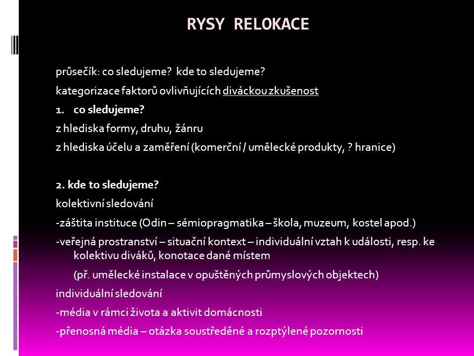 RYSY RELOKACE průsečík: co sledujeme. kde to sledujeme.