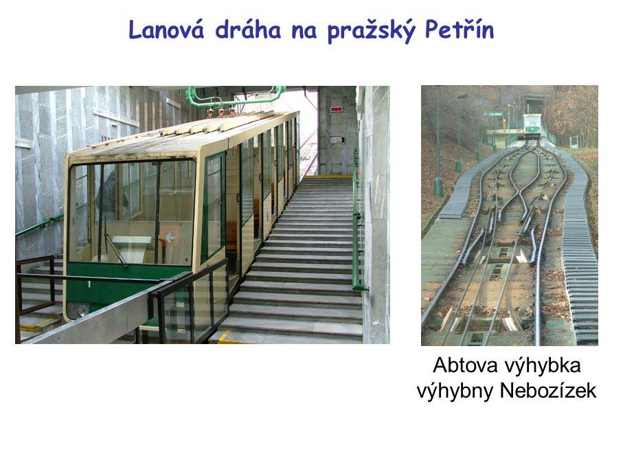 Lanová dráha na pražský Petřín Abtova výhybka výhybny Nebozízek