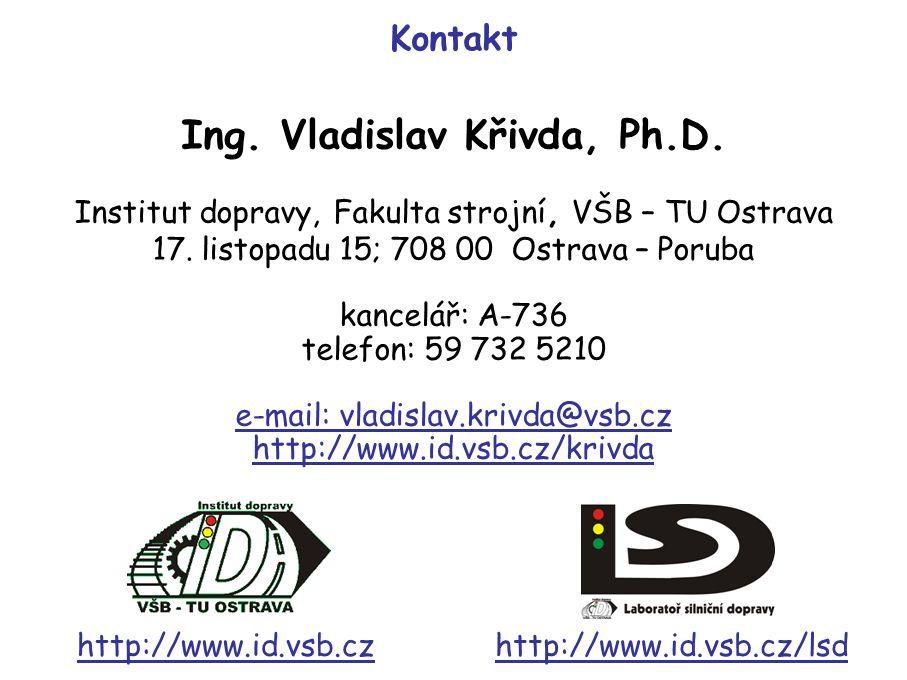 Institut dopravy, Fakulta strojní, VŠB – TU Ostrava 17.