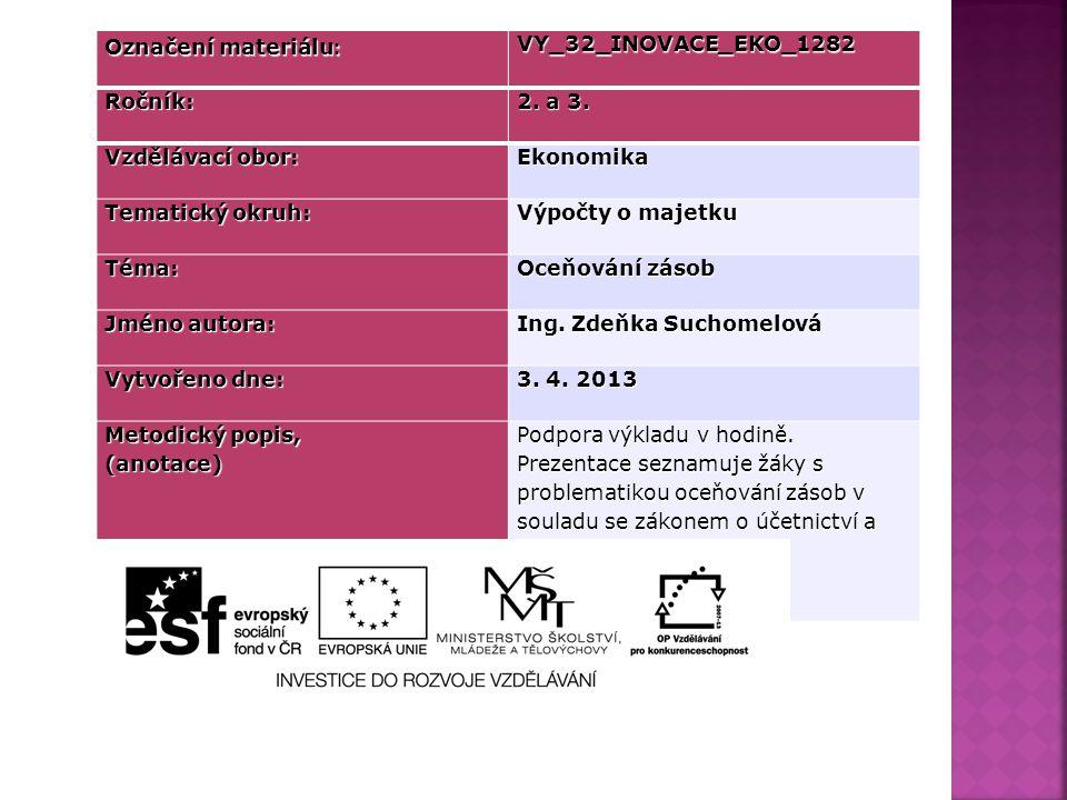 Označení materiálu : VY_32_INOVACE_EKO_1282Ročník: 2.