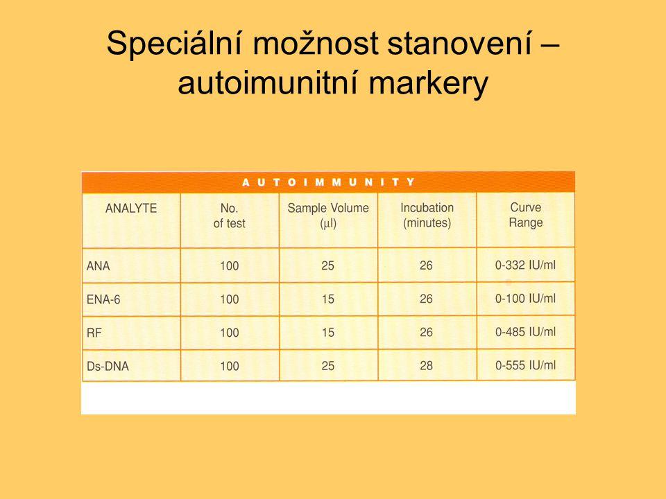 Speciální možnost stanovení – autoimunitní markery