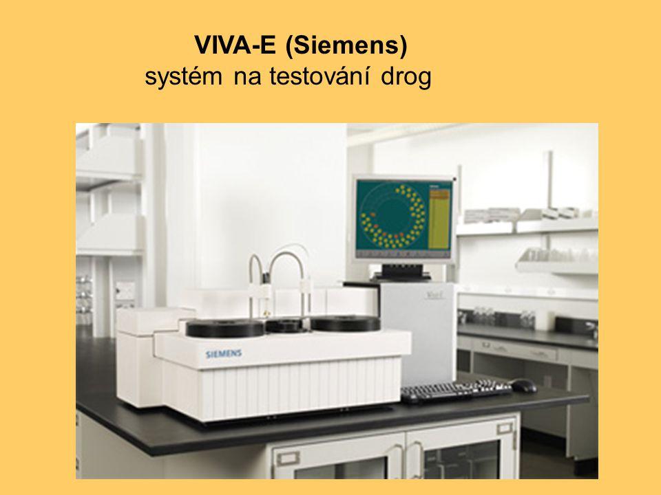 VIVA-E (Siemens) systém na testování drog
