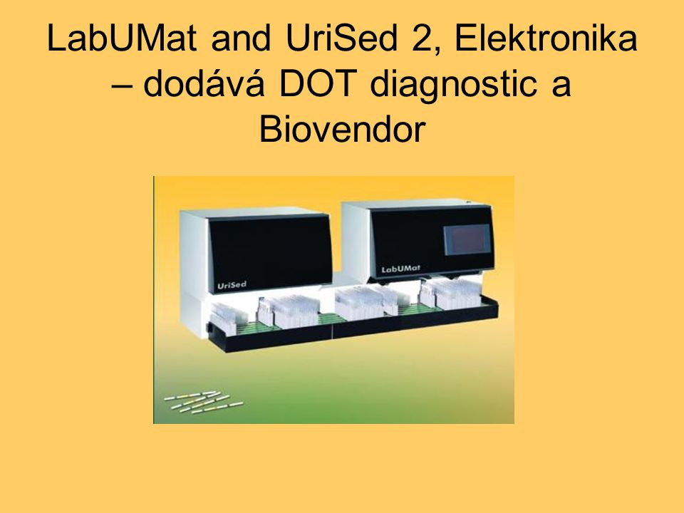 LabUMat and UriSed 2, Elektronika – dodává DOT diagnostic a Biovendor