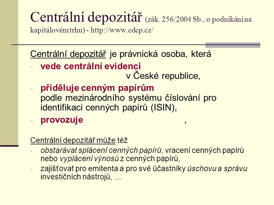 Centrální depozitář (zák.