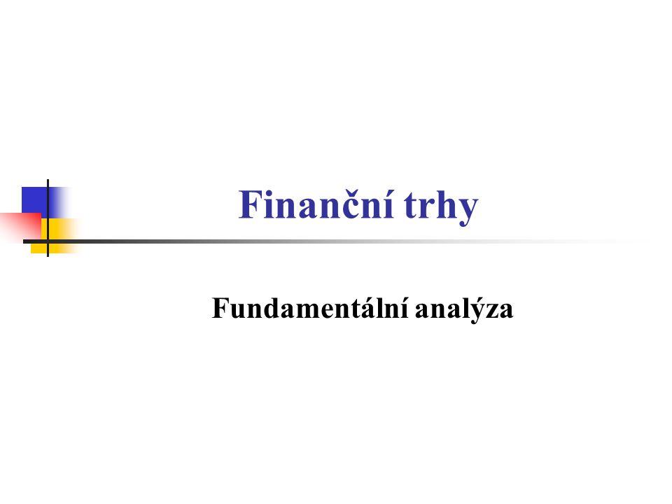 Finanční trhy Fundamentální analýza
