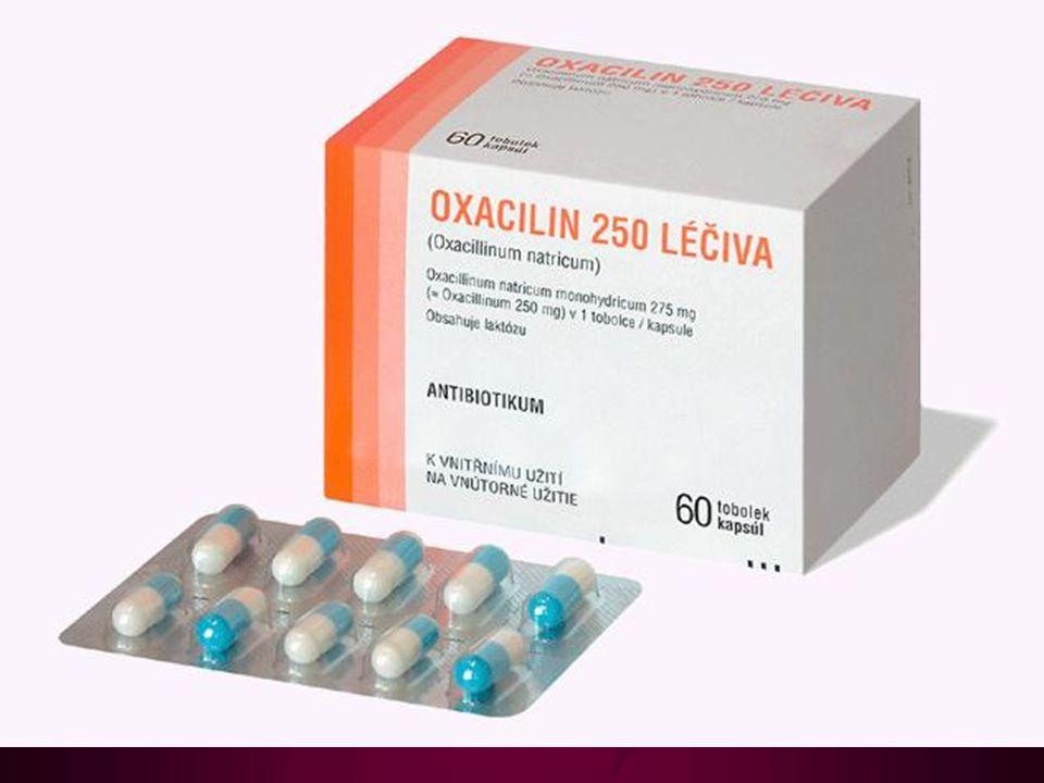 Ampicilin a amoxicilin Rozšíření účinku na hemofily, Escherichia coli, Proteus mirabilis, lepší účinek na enterokoky a listerie, S.