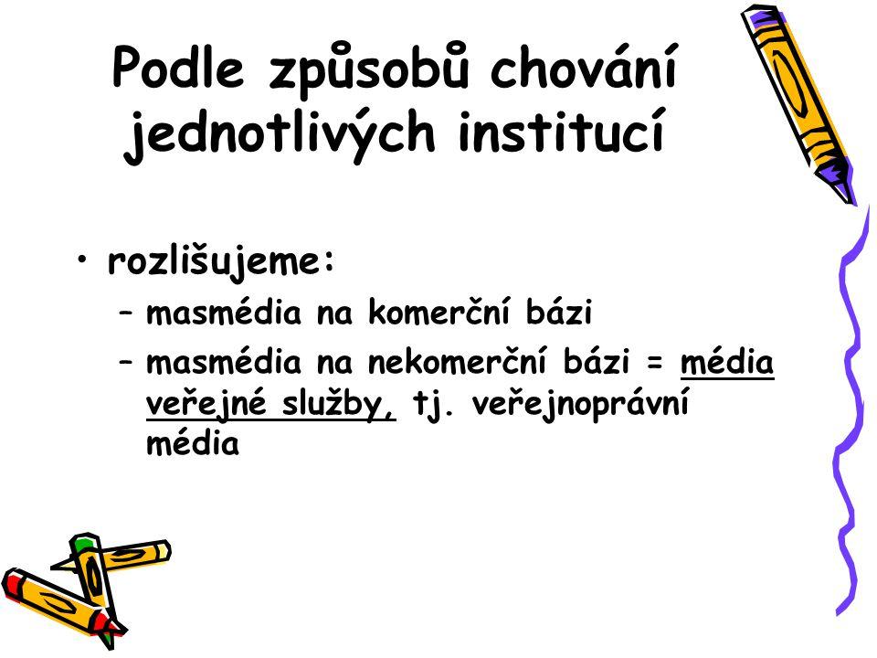 Média veřejné služby v ČR Česká televize –zák.č. 483/1991 Sb.