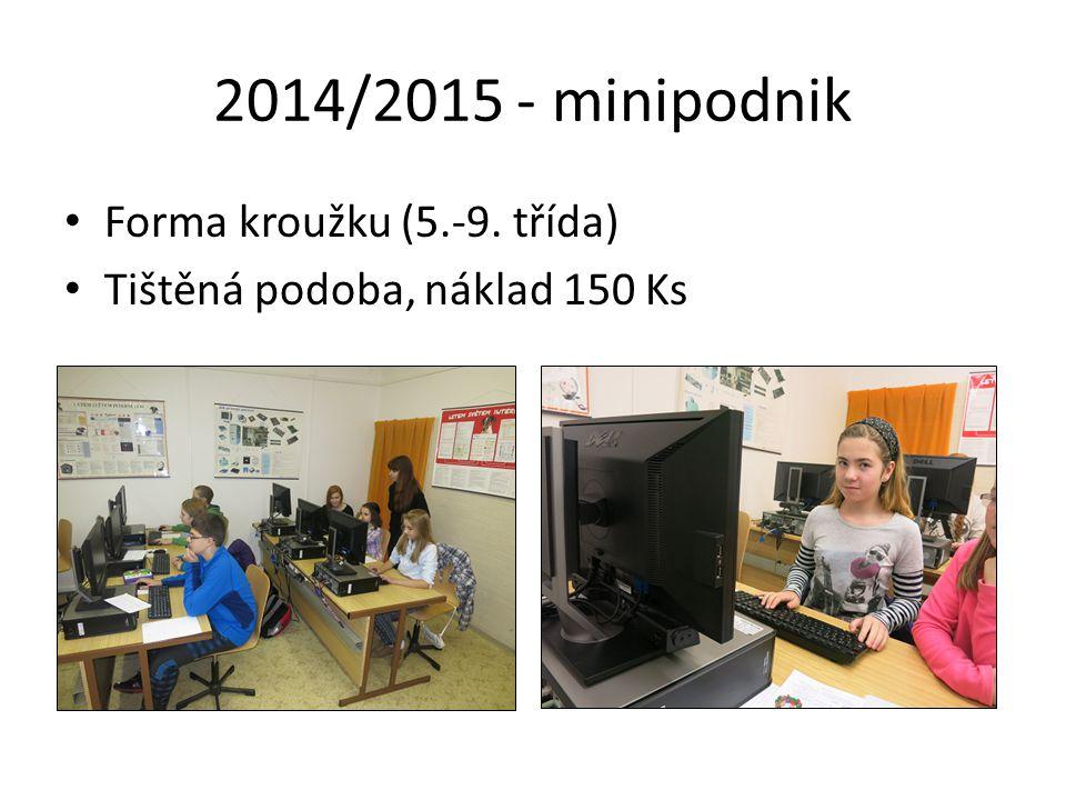 2014/2015 - minipodnik Forma kroužku (5.-9. třída) Tištěná podoba, náklad 150 Ks