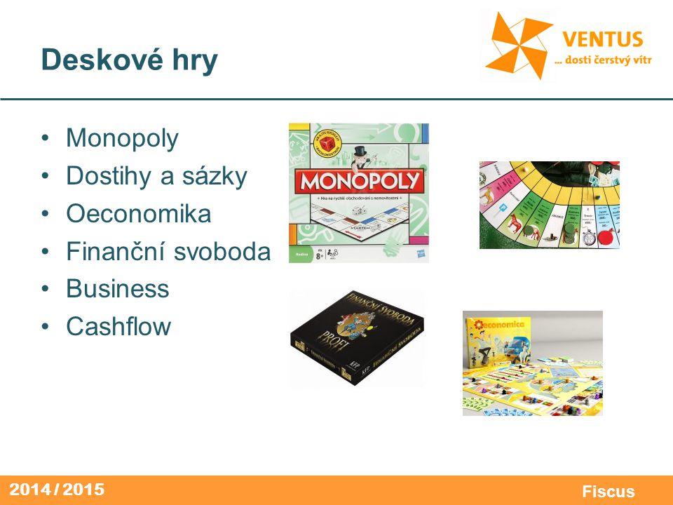 2014 / 2015 Fiscus Deskové hry Monopoly Dostihy a sázky Oeconomika Finanční svoboda Business Cashflow