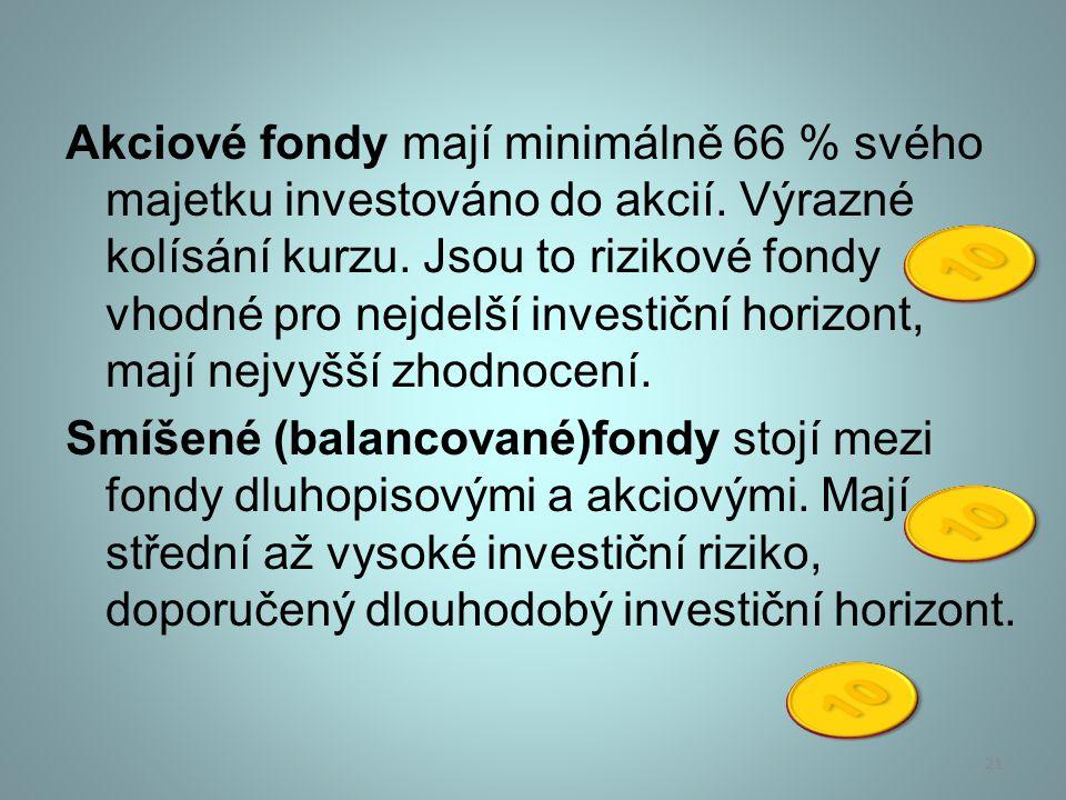 Fondy fondů jsou fondy, které neinvestují přímo do akcií nebo dluhopisů, ale vytvářejí portfolio složené ze specializovaných fondů.