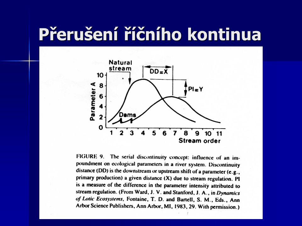 Rozdíly mezi odtokem z epilimnia resp. nestratifikované nádrže a z hypolimnia