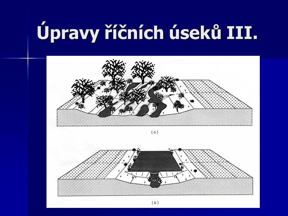 Úroveň habitat – úpravy jezů – koruna jezu a objem zdrže