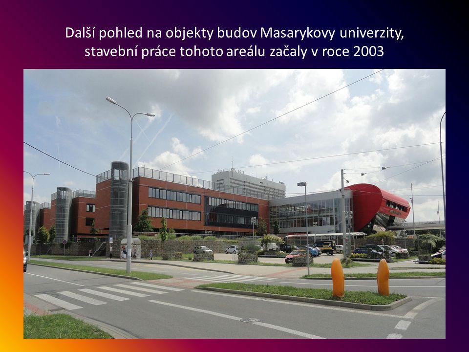 Budovy Masarykovy univerzity v Bohunicích, Kamenice 753/5, kde jsou lékařská a přírodovědecká fakulta.