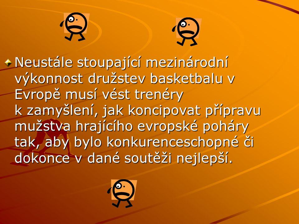 Neustále stoupající mezinárodní výkonnost družstev basketbalu v Evropě musí vést trenéry k zamyšlení, jak koncipovat přípravu mužstva hrajícího evrops