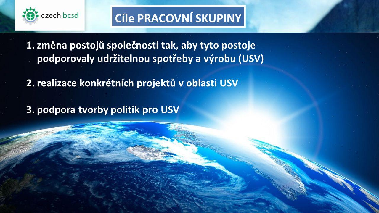 1.změna postojů společnosti tak, aby tyto postoje podporovaly udržitelnou spotřeby a výrobu (USV) 2.realizace konkrétních projektů v oblasti USV 3.pod