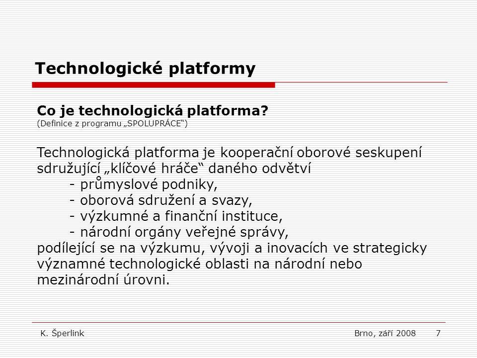 7 Technologické platformy Co je technologická platforma.