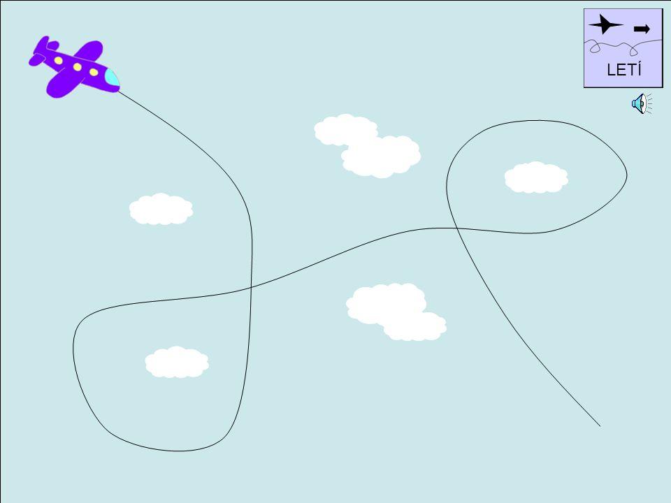 Pozorně sleduj letadlo, jak letí. Pokus se na papír zaznamenat dráhu jeho letu. Pozor, letadlo smí letět pouze okolo mráčků, ne skrz ně.