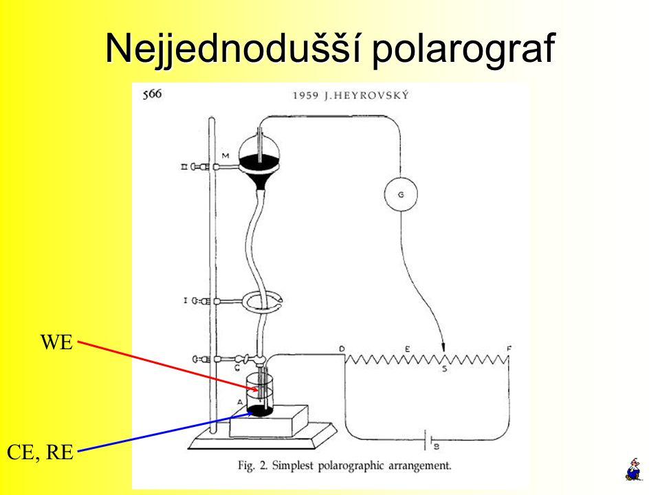 Nejjednodušší polarograf WE CE, RE