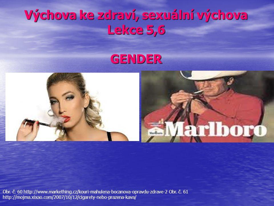 Výchova ke zdraví, sexuální výchova Lekce 5,6 GENDER Obr. č. 60 http://www.markething.cz/kouri-mahulena-bocanova-opravdu-zdrave-2 Obr. č. 61 http://mo