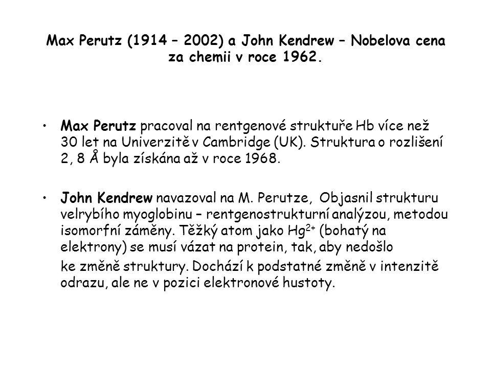Max Perutz (1914 – 2002) a John Kendrew – Nobelova cena za chemii v roce 1962.